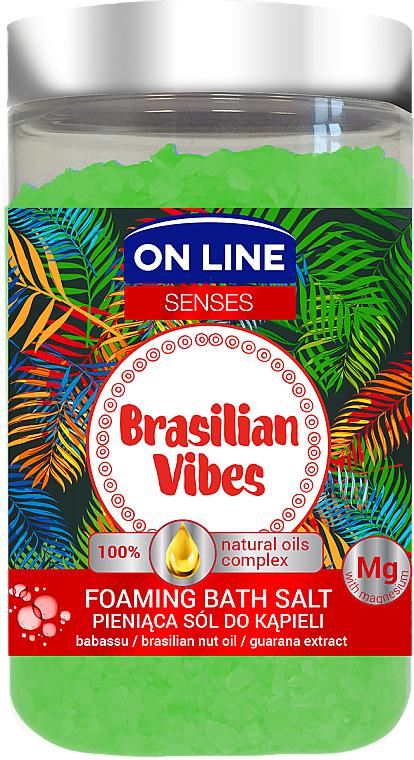 Sales de baño con extracto de guaraná y aceites de nuez brasileña & babasú - On Line Senses Bath Salt Brasilian Vibes