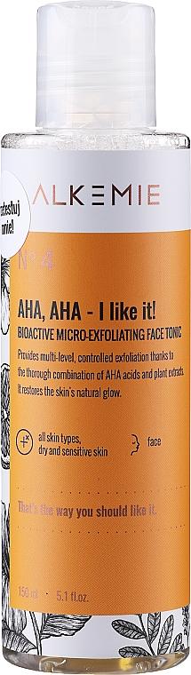 Tónico facial bioactivo microexfoliante con extracto de naranja - Alkemie Nature's Treasure Aha Aha I Like It! Tonic