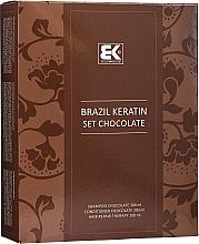 Perfumería y cosmética Set para cabello con queratina - Brazil Keratin Intensive Repair Chocolate (champ/300ml + acond./300ml + sérum/100ml)