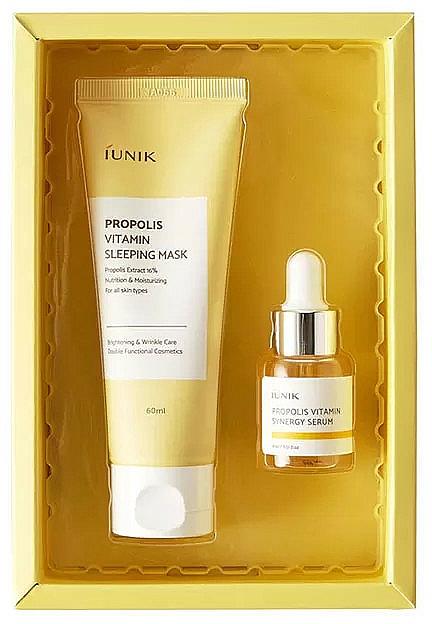 Set facial - iUNIK Propolis Edition Skin Care Set (mascarilla/60ml + sérum/15ml)