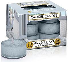 Perfumería y cosmética Vela de té perfumada, Remanso de paz, 12uds. - Yankee Candle Scented Tea Light Candles A Calm & Quiet Place