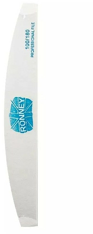 Lima de uñas, luna, 100/180 blanca - Ronney Professional Premium Half Moon Nail Files