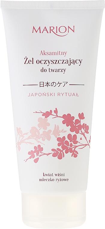 Gel limpiador facial con extracto de cerezo de flor japonés - Marion Japanese Ritual Velvet Cleansing Gel For Face