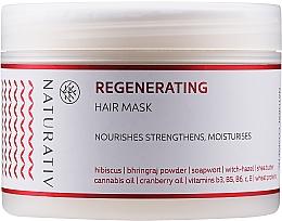 Perfumería y cosmética Mascarilla capilar natural regeneradora con manteca de karité y aceite de cáñamo - Naturativ Regeneration Mask