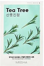 Perfumería y cosmética Mascarilla facial de tejido con extracto de árbol de té - Missha Airy Fit Tea Tree Sheet Mask