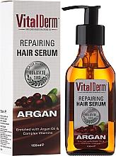 Perfumería y cosmética Sérum reparador de cabello con aceite de argán y complejo de vitaminas - VitalDerm Argana