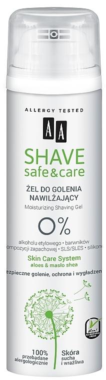 Gel de afeitar con extracto de aloe vera - AA Shave Safe&Care