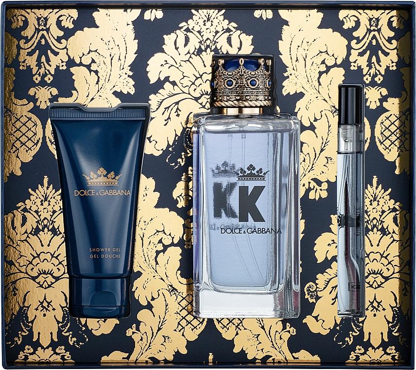 Dolce&Gabbana K by Dolce&Gabbana - Set (edt/100ml + gel de ducha/50ml + edt/mini/10ml)