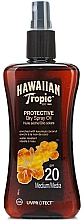 Perfumería y cosmética Aceite seco bronceador en spray con coco, resistente al agua - Hawaiian Tropic Protective Dry Oil SPF20