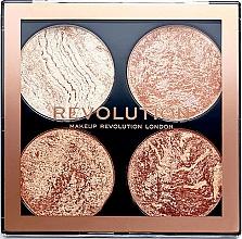 Perfumería y cosmética Paleta de iluminadores y bronceadores - Makeup Revolution Cheek Kit