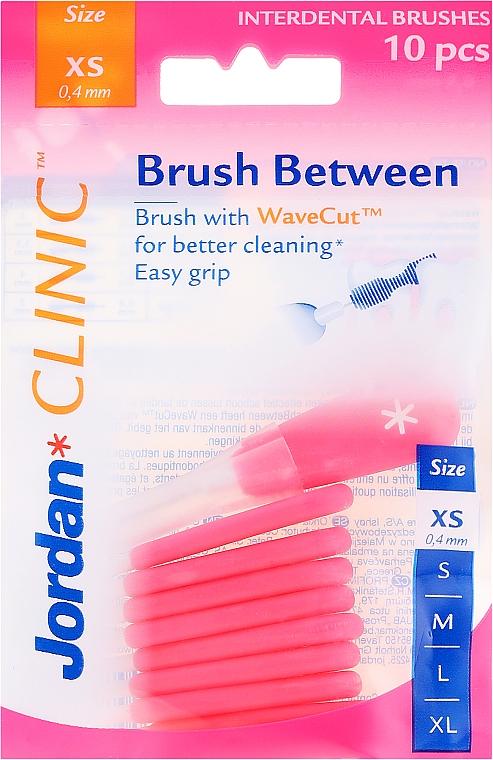Cepillo interdental 0,4 mm XS,10 uds. - Jordan Interdental Brush