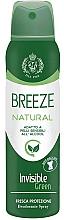 Perfumería y cosmética Desodorante spray  antimanchas sin alcohol para pieles sensibles - Breeze Deo Spray Natural Essence