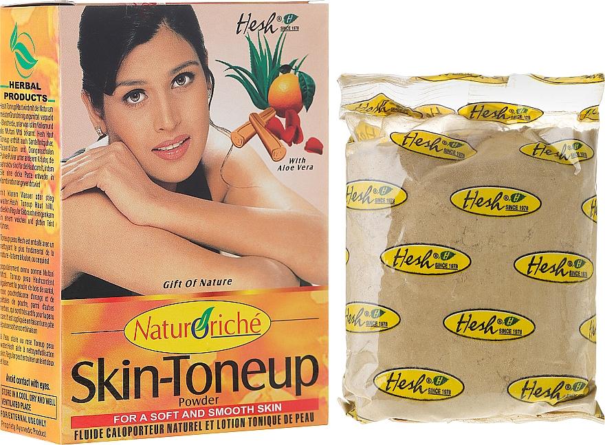 Mascarilla facial natural con aloe vera, polvo de sándalo, pétalos de rosa y cáscara de naranja - Hesh Skin-ToneUp Powder — imagen N1