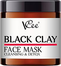 Perfumería y cosmética Mascarilla facial detoxificante con arcilla negra - VCee Black Clay Face Mask Cleansing&Detox