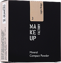 Polvo facial mineral compacto - Make Up Factory Mineral Compact Powder — imagen N3