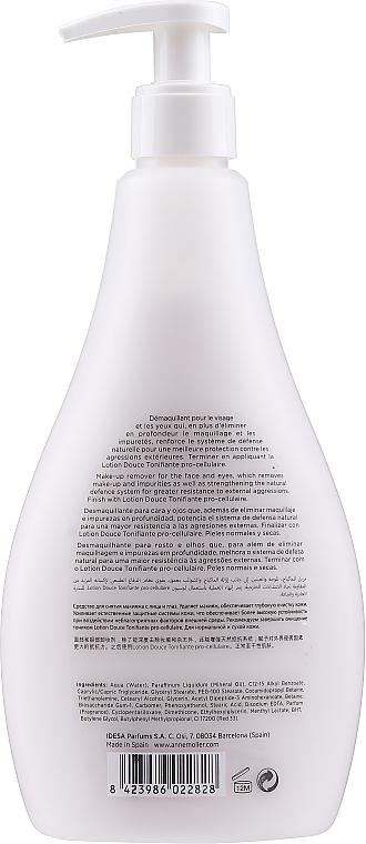 Leche desmaquillante sin parabenos, colorantes y alcohol - Anne Moller Pro-Defense Makeup Remover Milk Face and Eyes — imagen N2