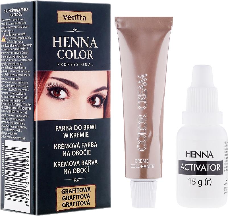 Tinte en crema para pestañas y cejas - Venita Henna Color