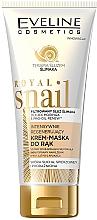 Perfumería y cosmética Crema mascarilla de manos intensiva con baba de caracol para pieles secas - Eveline Cosmetics Royal Snai