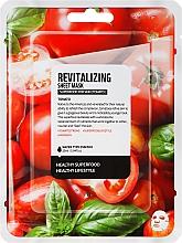 Perfumería y cosmética Mascarilla facial de algodón con tomate - Superfood For Skin Revitalizing Sheet Mask