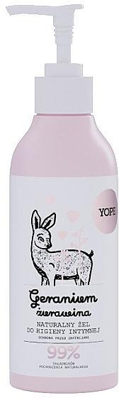 Gel natural de higiene íntima con geranio y arándano - Yope