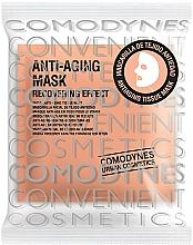Perfumería y cosmética Mascarilla facial de tejido antiedad con ácido hialurónico, vitamina C - Comodynes Anti-Aging Mask Recovering Effect