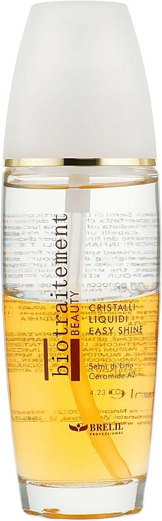 Cristales líquidos iluminadores bifásicos con aceite de lino y ceramidas - Brelil Bio Traitement Beauty Cristalli Liquidi Easy Shine — imagen N1