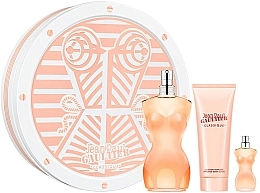 Perfumería y cosmética Jean Paul Gaultier Classique - Set (eau de toilette/100ml + loción corporal perfumada/75ml + eau de toilette/mini/5ml)
