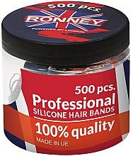 Perfumería y cosmética Gomas de silicona para cabello, transparentes - Ronney Professional Silicone Hair Bands