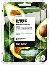 Perfumería y cosmética Mascarilla facial de algodón con aguacate - Superfood For Skin Softening Sheet Mask