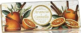 Perfumería y cosmética Set jabón natural artesanal con aroma a naranja y canela - Saponificio Artigianale Fiorentino Orange & Cinnamon (3uds. x 100g)
