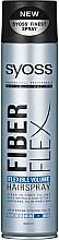Perfumería y cosmética Laca voluminizadora con filtro UV, fijación flexible extra fuerte - Syoss Fiber Flex Flexible Volume Hair Spray