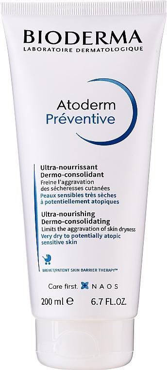 Crema hipoalergénica con aceite de girasol, sin parabenos - Bioderma Atoderm Preventive Nourishing Cream Dermo-Consolidating