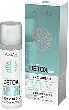 Perfumería y cosmética Crema contorno de ojos con tetrapéptidos, extracto de algas rojas y carbón activo - Vollare Multi-Active Detox Q10 Eye Cream