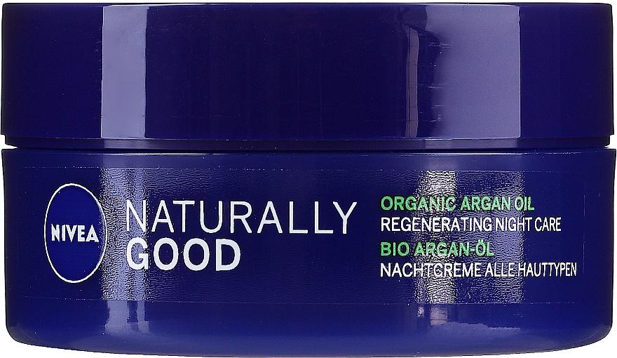 Crema de noche regeneradora con aceite de argán - Nivea Naturally Good Night Regeneration Care