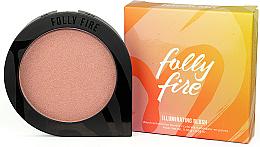 Perfumería y cosmética Colorete e iluminador en polvo compacto, vegano - Folly Fire Illuminating Blush