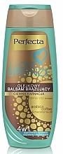 Perfumería y cosmética Bálsamo corporal autobronceador tono oscuro, con aceite de macadamia - Perfecta I Love Bronze Balm