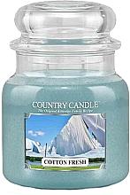 Perfumería y cosmética Vela en tarro con aroma a algodón fresco - Country Candle Cotton Fresh