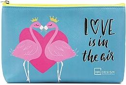 Perfumería y cosmética Neceser comético con estampado, azul (15x22,5x2,5cm) - IDC Design Accessories Cosmetig Bag