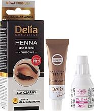 Perfumería y cosmética Crema colorante para cejas con aceite de argán - Delia Cosmetics Cream Eyebrow Dye