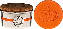 Perfumería y cosmética Jabón artesanal, naranja - Essencias de Portugal Aluminium Jewel-Keeper With Cork Lid Orange