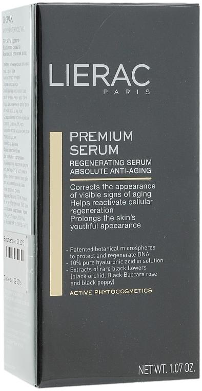 Sérum facial antiedad con ácido hialurónico y extracto de orquídea negra - Lierac Exclusive Premium Serum Regenerant — imagen N4