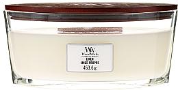 Perfumería y cosmética Vela aromática, lino y limpio - Woodwick Hearthwick Flame Ellipse Candle Linen Linge Propre