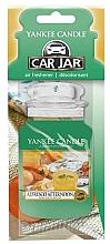 Perfumería y cosmética Ambientador de coche - Yankee Candle Car Jar Alfresco Afternoon