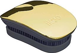 Perfumería y cosmética Cepillo de pelo desenredante compacto - Ikoo Pocket Soleil Metallic Black