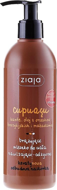 Loción corporal bronceadora con aceite de macadamia y manteca de karité - Ziaja Body Milk