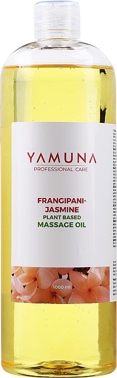 Aceite de masaje natural con aroma a jazmín - Yamuna Frangipani-Jasmine Plant Based Massage Oil