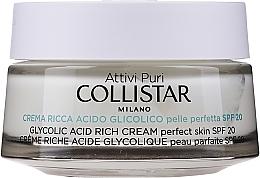Perfumería y cosmética Crema facial enriquecida con ácido glicólico - Collistar Pure Actives Glycolic Acid Rich Cream SPF20