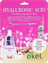 Perfumería y cosmética Mascarilla facial de tejido hidratante con ácido hialurónico - Ekel Hyaluronic Acid Ultra Hydrating Essence Mask
