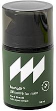 Perfumería y cosmética Crema facial con extracto de algas - Monolit Skincare For Men Face Cream With Algae Extract