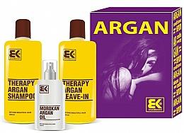 Perfumería y cosmética Set para cabello con argán - Brazil Keratin Therapy Argan (champú/300ml + acond./300ml + aceite/100ml)